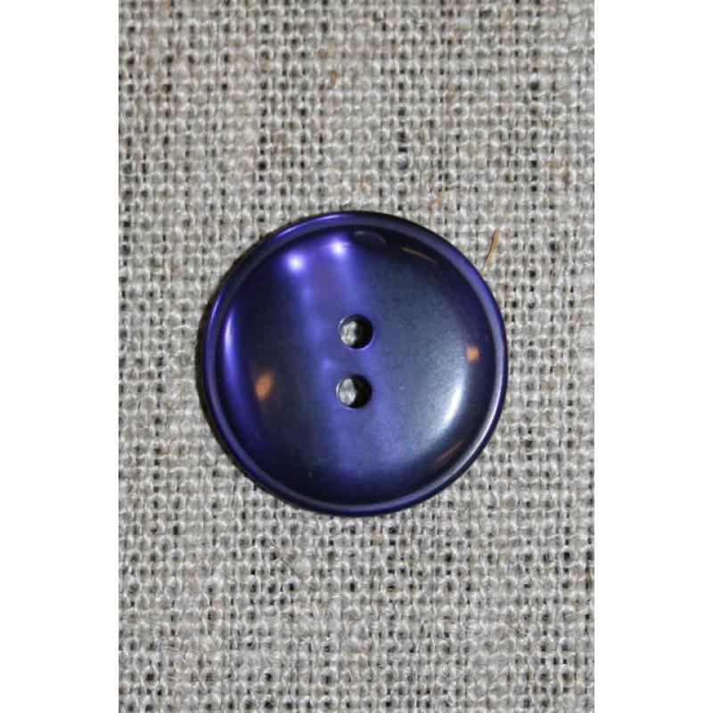 Mørkelilla 2-huls knap, 22 mm.-31