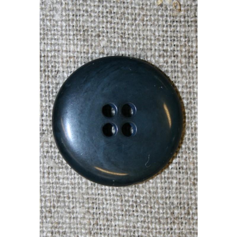 Blå-grå 4-huls knap, 20 mm.-31