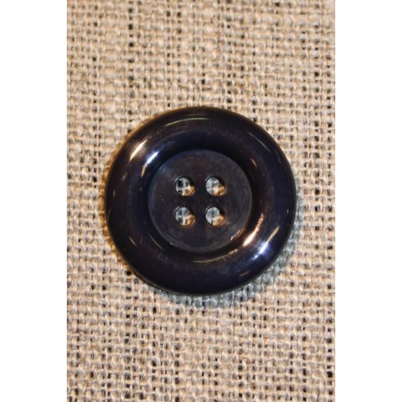 Mørkeblå 4-huls knap, 20 mm.-33