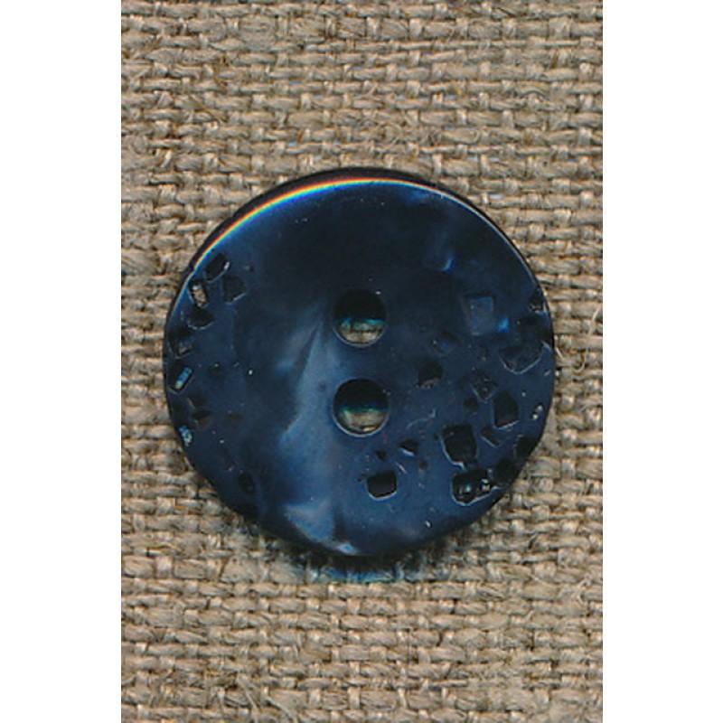 Petrol/blå knap 18 mm.-31