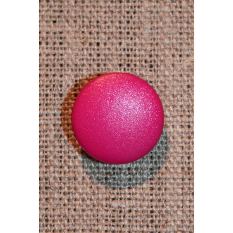 Knap m/øje, mørk pink-31
