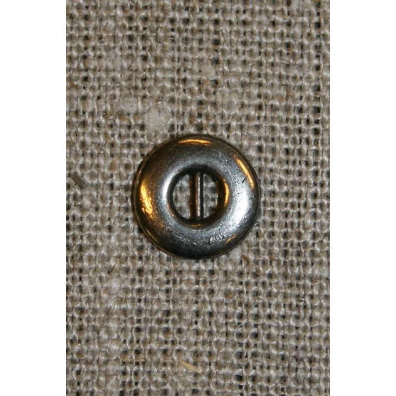 Sølvknap 12 mm.