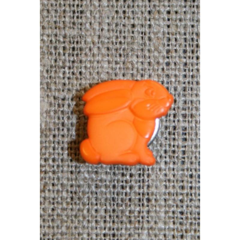 Knap m/kanin, orange-31