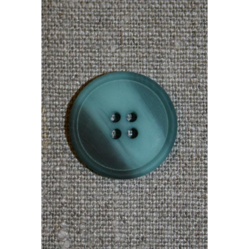 Aqua/petrol meleret knap, 22 mm.-31