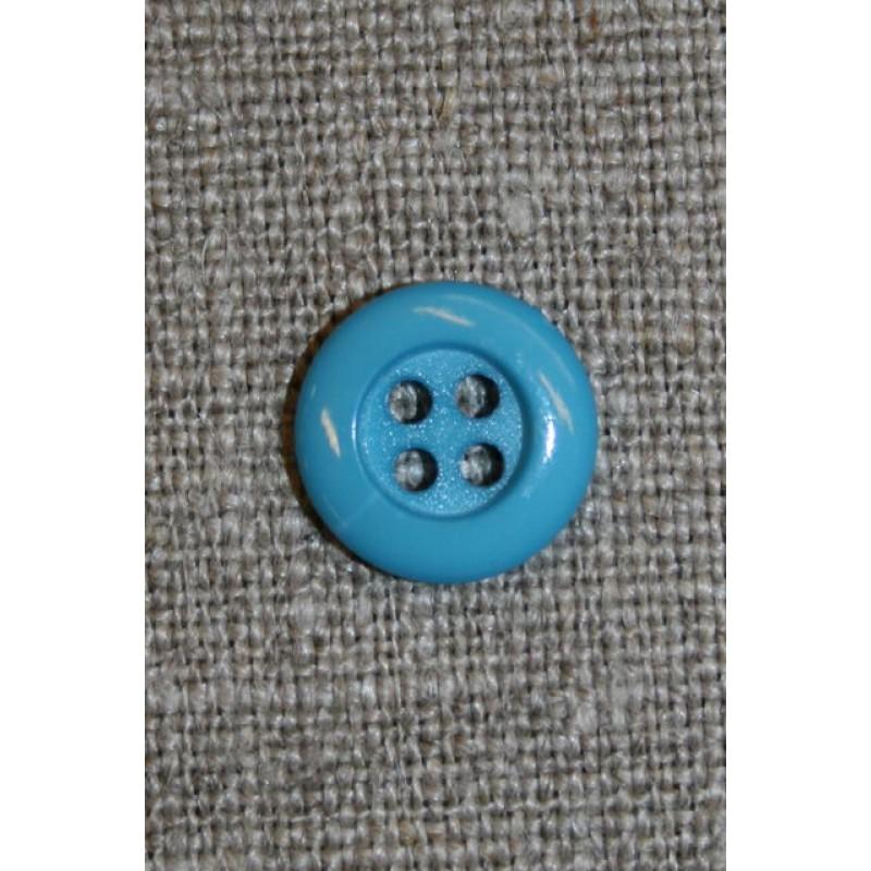 4-huls knap 12 mm, turkis/aqua-31