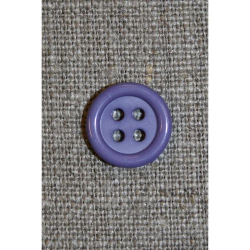Lavendel 4-huls knap, 13 mm.