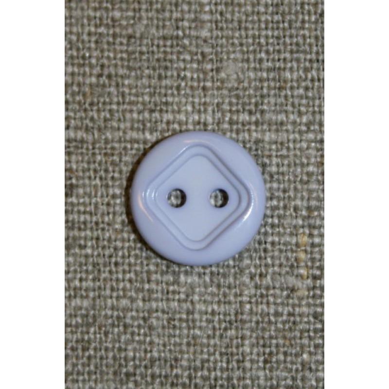 2-huls knap m/firkant, baby-lyselilla-31