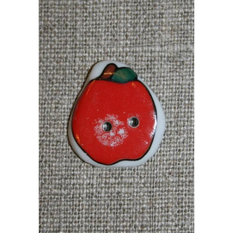 Knap keramik, æble