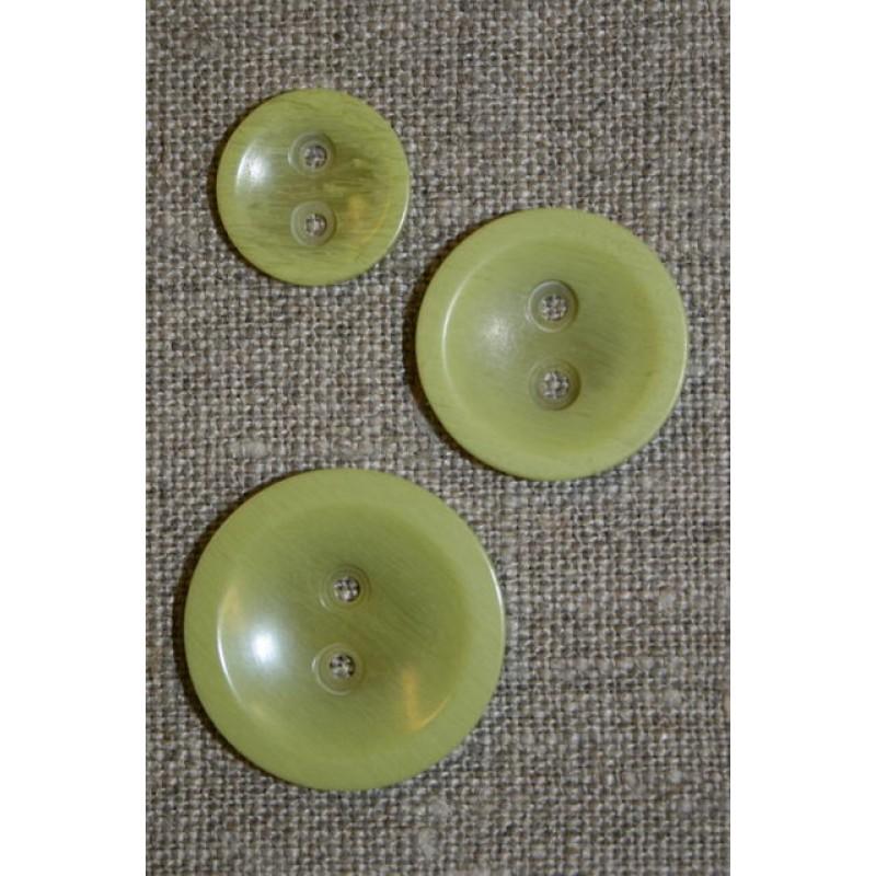 Lys lime 2-huls knap, 15 mm.-35