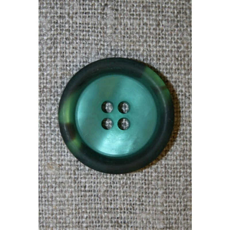 Petrol-grøn knap m/kant i army-look, 22 mm.-31