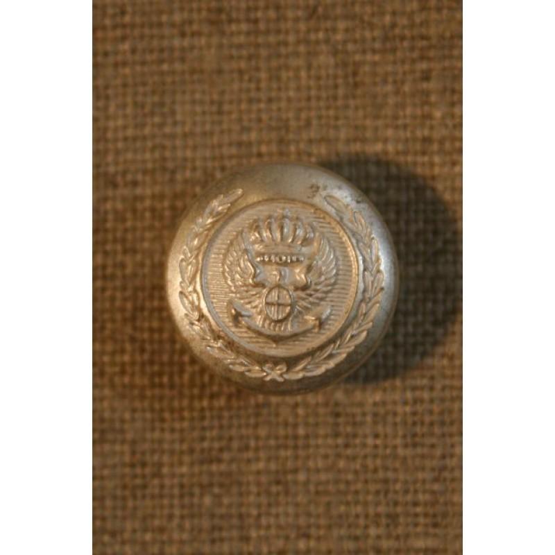 Sølvknap m/våbenskjold
