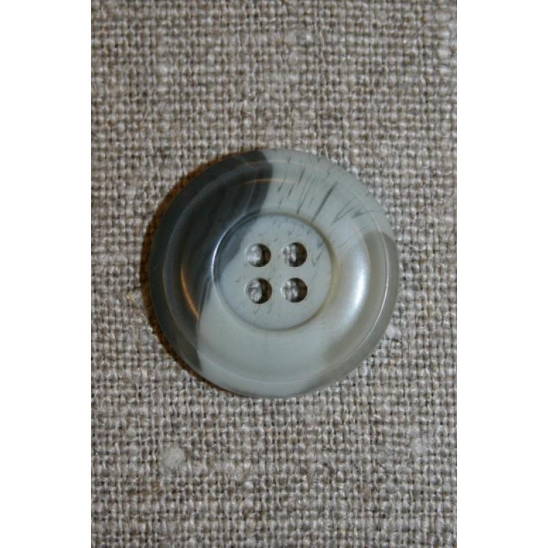 Grå-meleret 4-huls knap, 22 mm.-31