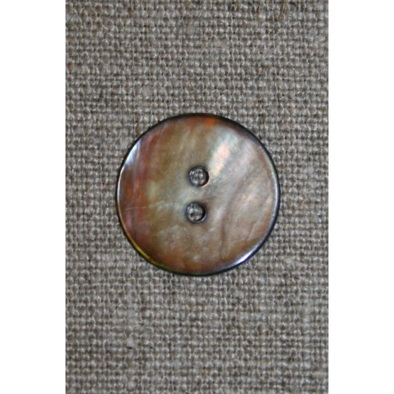 Lysebrun perlemorsknap, 15 mm.-31