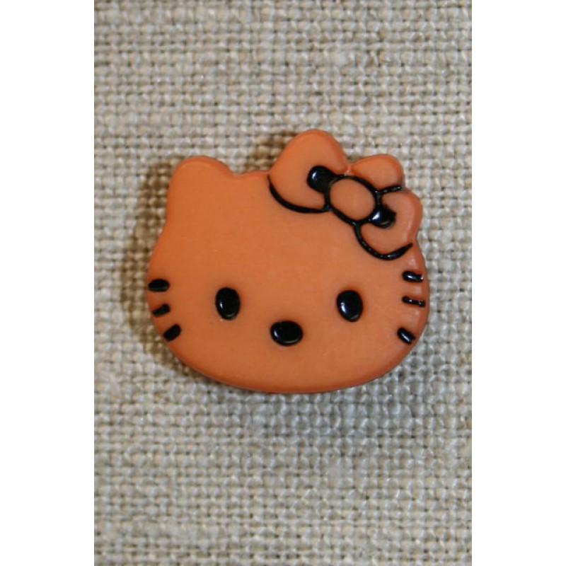 Knap Hello Kitty, støvet orange-31