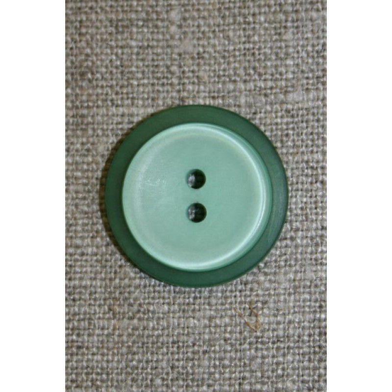 Lysegrøn/grøn knap, 22 mm.-31
