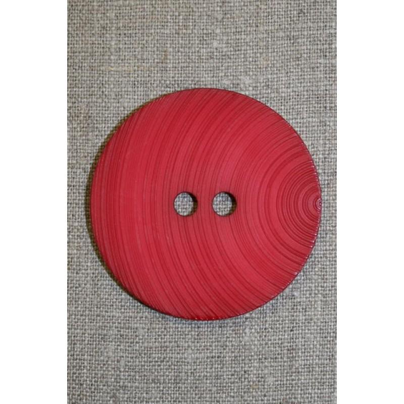 Stor knap 54 mm. rød-31