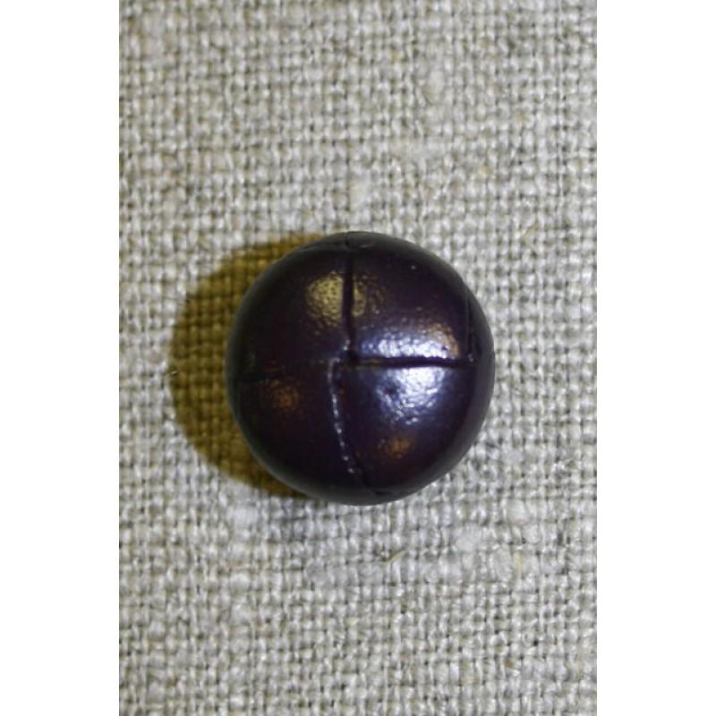 Læder-look knap mørk lilla