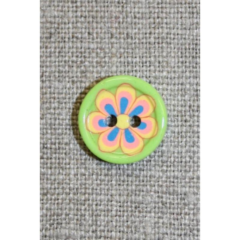 Lime knap m/blomst