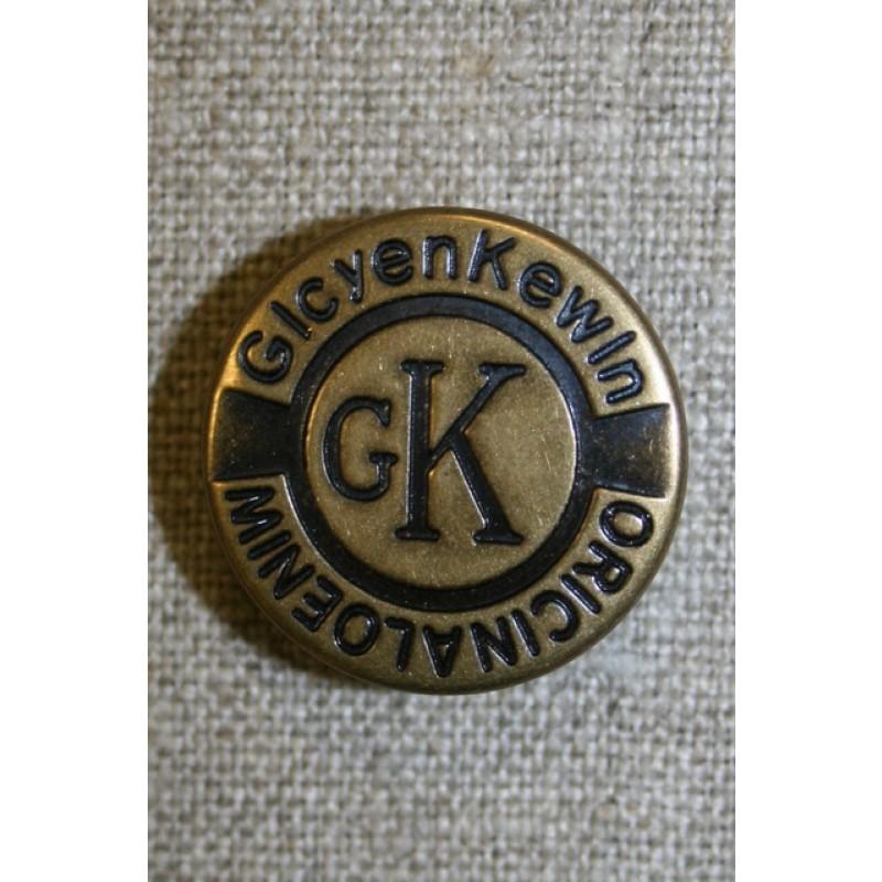 Patent knap 25 mm. gl.guld
