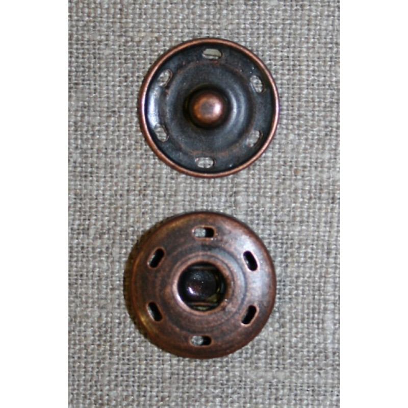 Tryklås 21 mm, gl.kobber-33