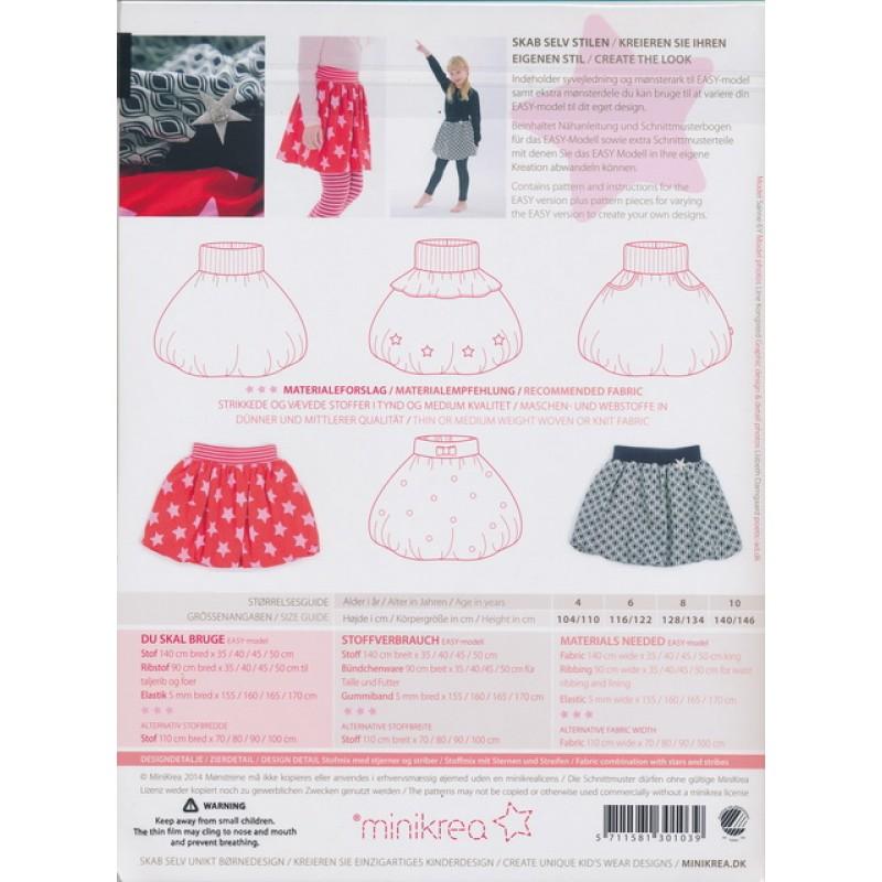 30103 Minikrea Ballon nederdel str. 4-10 år.-35