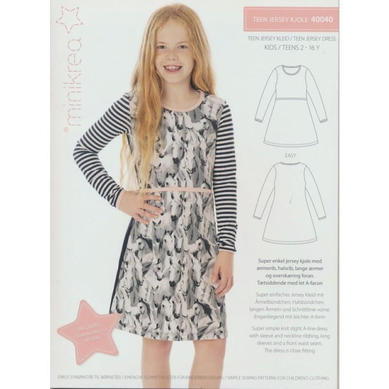 40040 Minikrea Teen jersey kjole-07