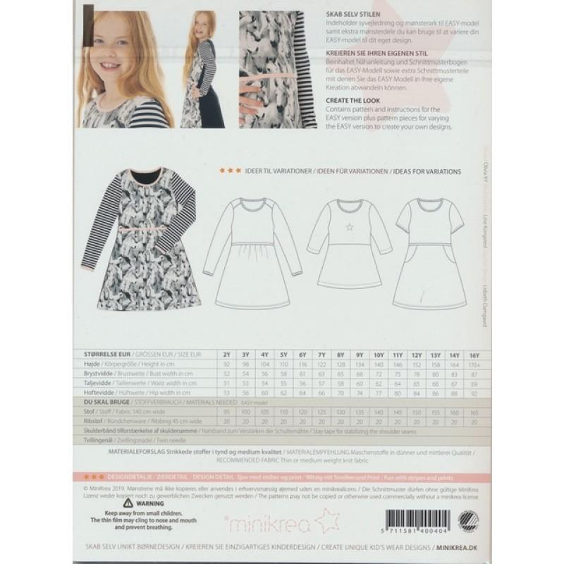 40040 Minikrea Teen jersey kjole-37