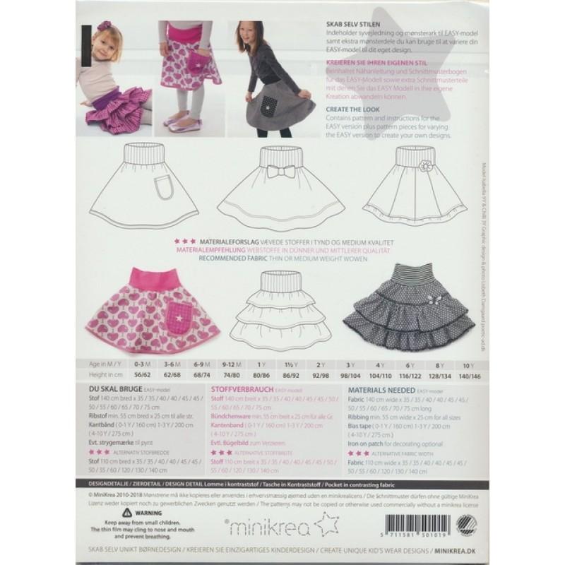 50101 Minikrea Cirkel nederdel str. 0-10 år.