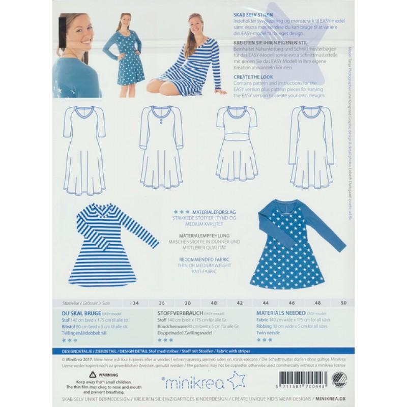70044 Minikrea Raglan Jersey kjole voksne-33