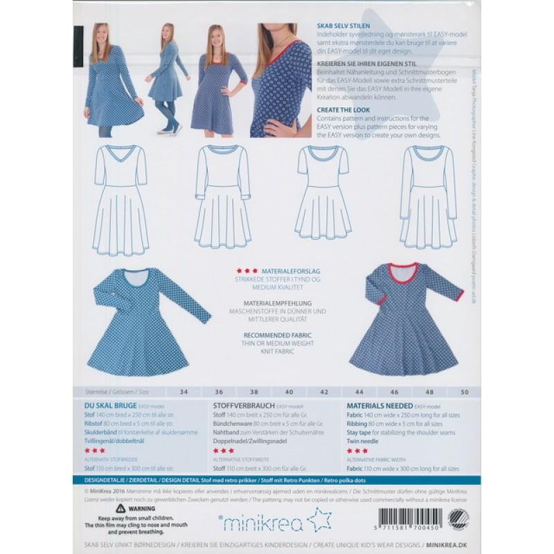 70045 Minikrea Jersey kjole voksne