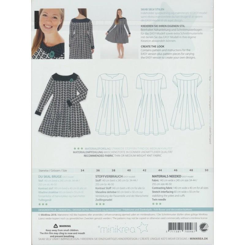 70046 Minikrea Jersey kjole med læg voksne-07