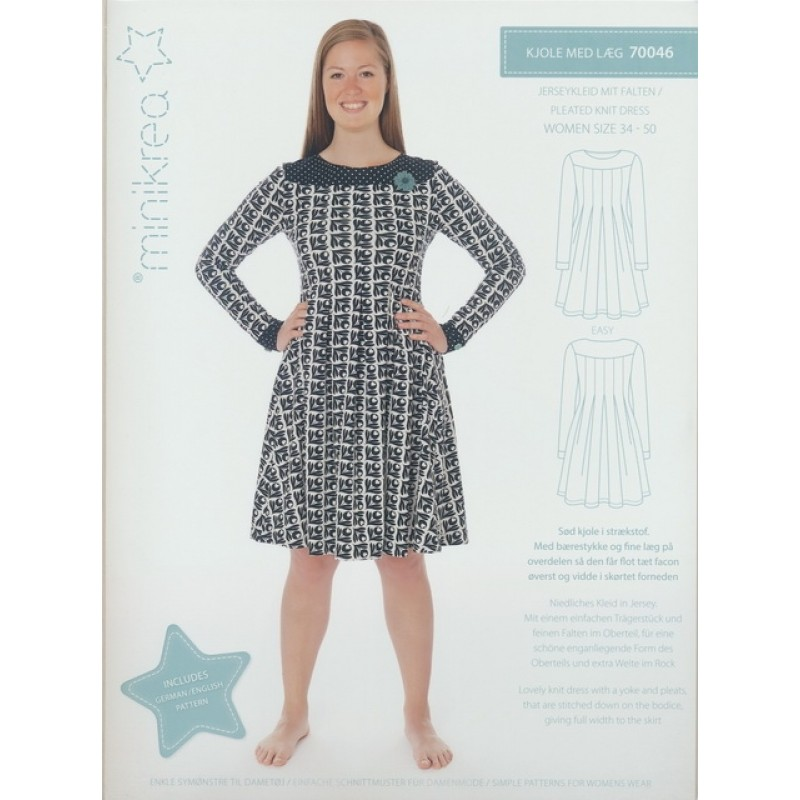 70046 Minikrea Jersey kjole med læg voksne