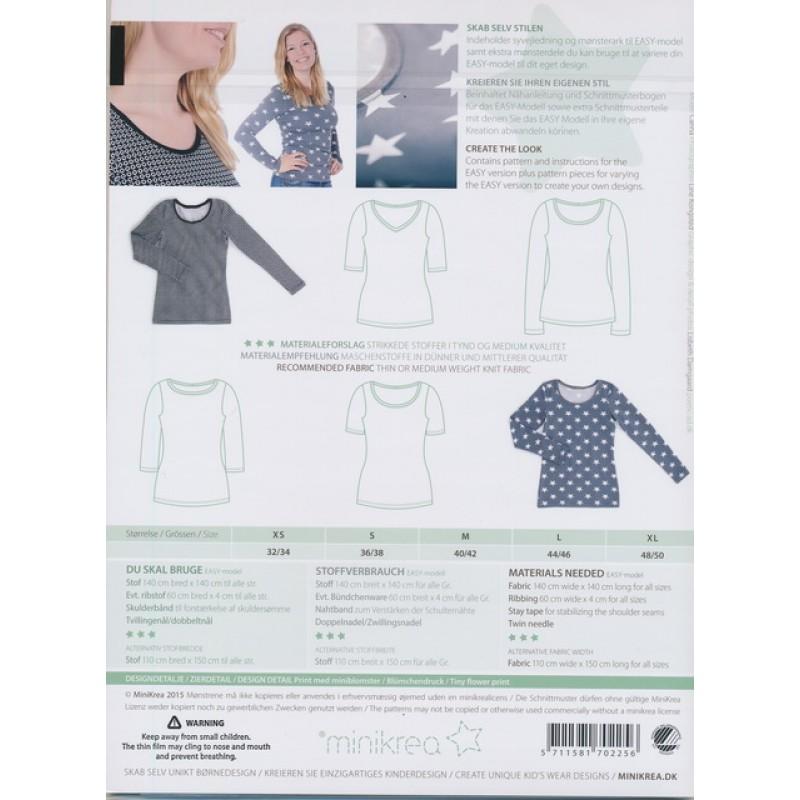 70225 Minikrea T-shirt voksne