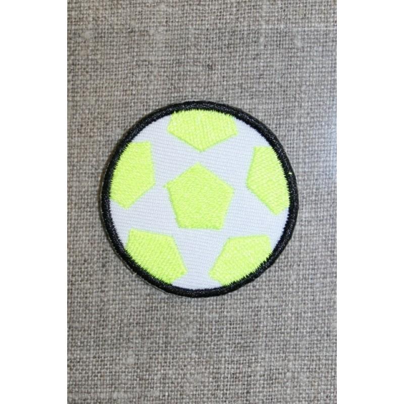 Fodbold neon gul/hvid/sort