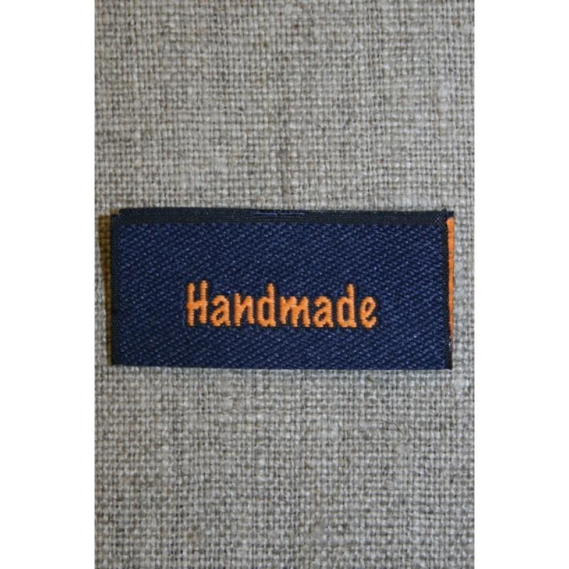 """Blå/orange mærke """"Handmade""""-35"""