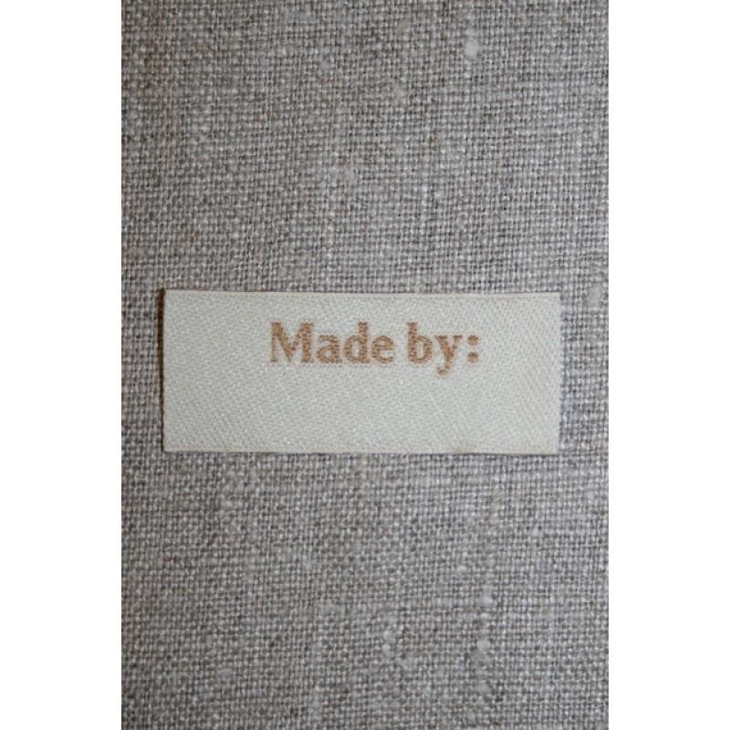 """Beige mærke """"Made by""""-35"""