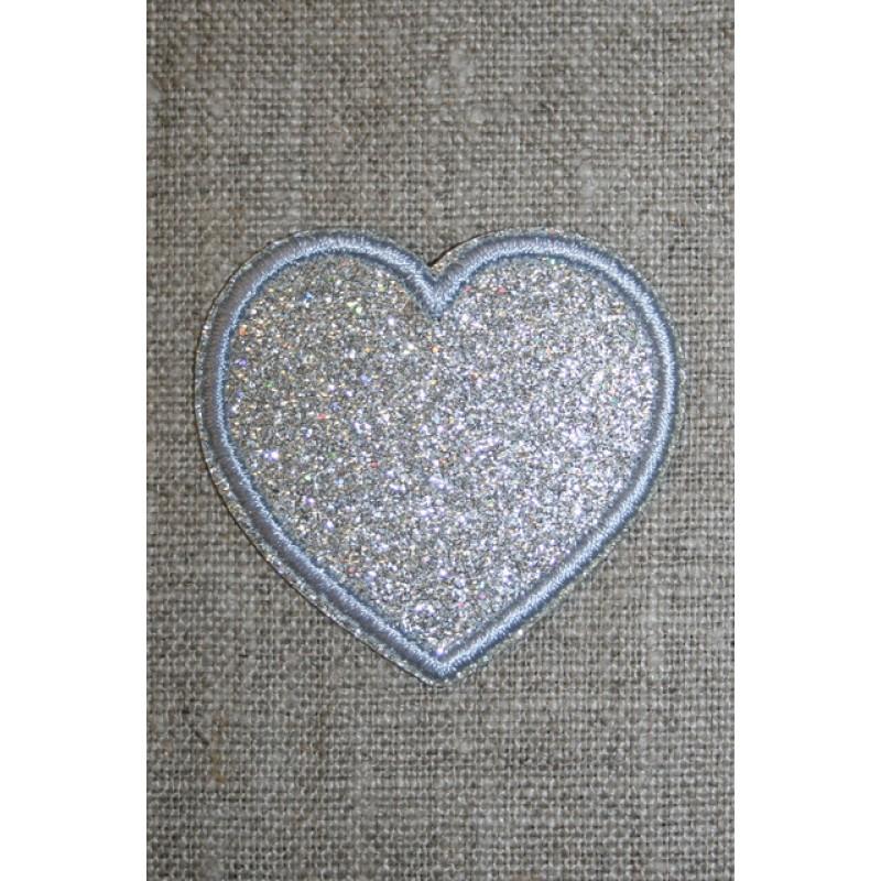 Motiv i sølv, hjerte 50 mm.-33