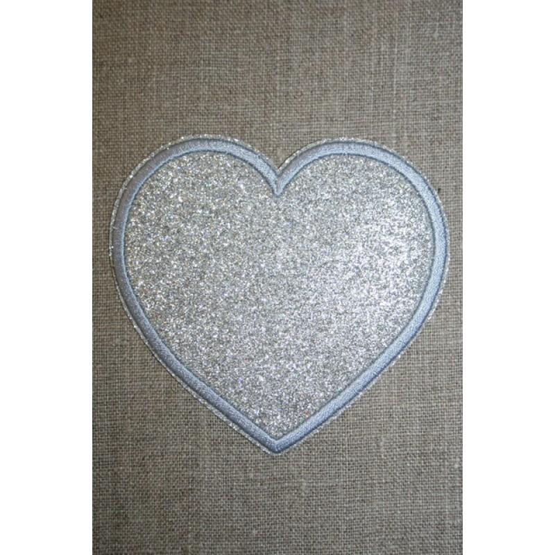 Motiv i sølv, hjerte 95 mm.