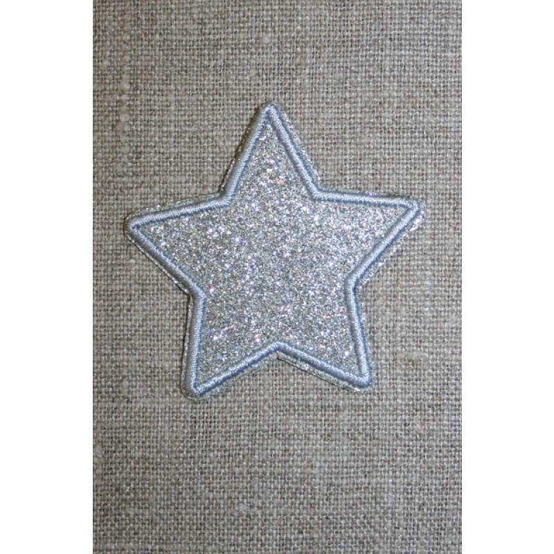 Motiv i sølv, stjerne 50 mm.