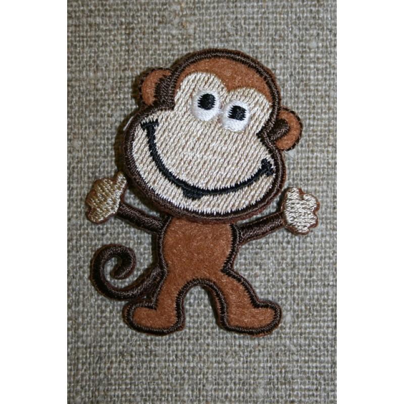 Strygemærke med abe brun/beige-35
