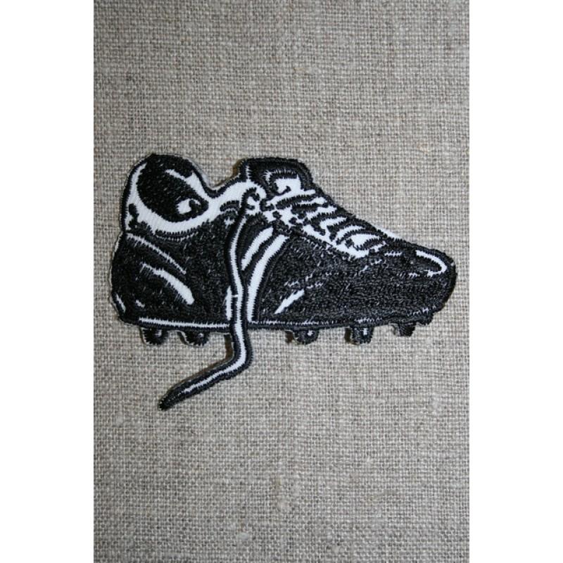 Fodboldstøvle sort/hvid