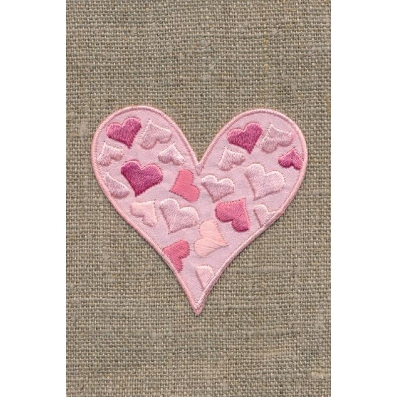 Lyserødt hjerte m/hjerter-32