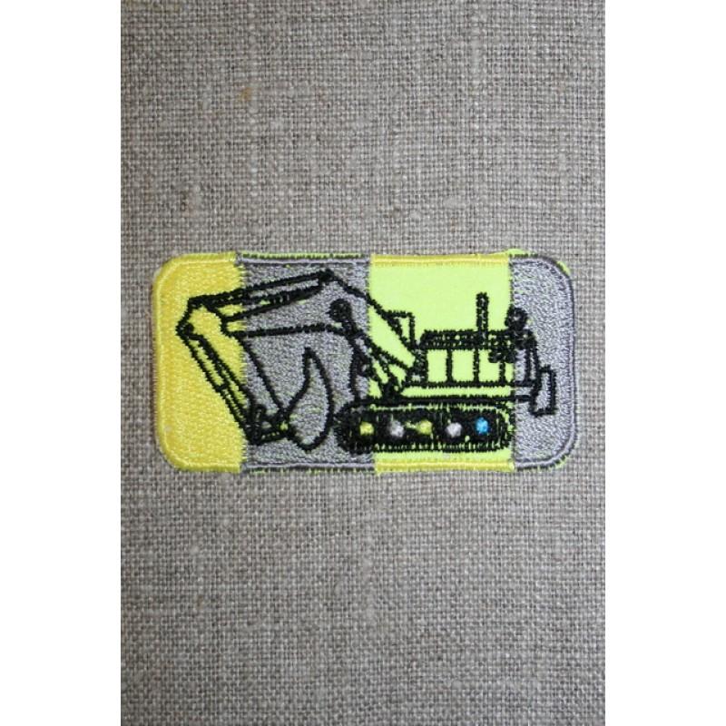Motiv m/gravko grå/neon gul-35