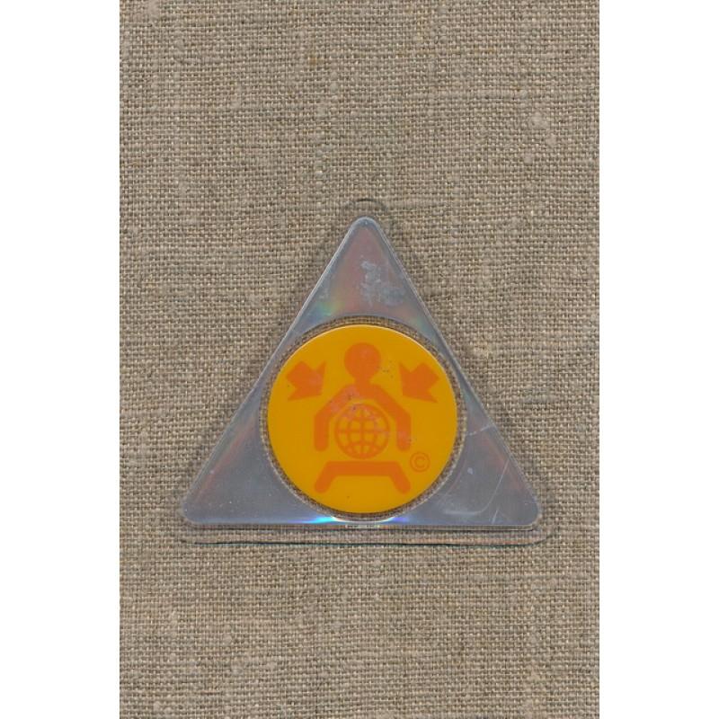 Trekantet motiv reflex/gul-orange-35