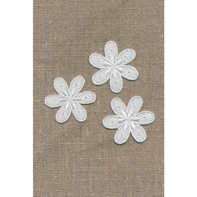 3 blomster, hvid-35