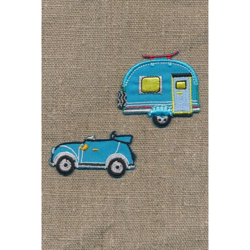 Strygemærke m/bil/campingvogn