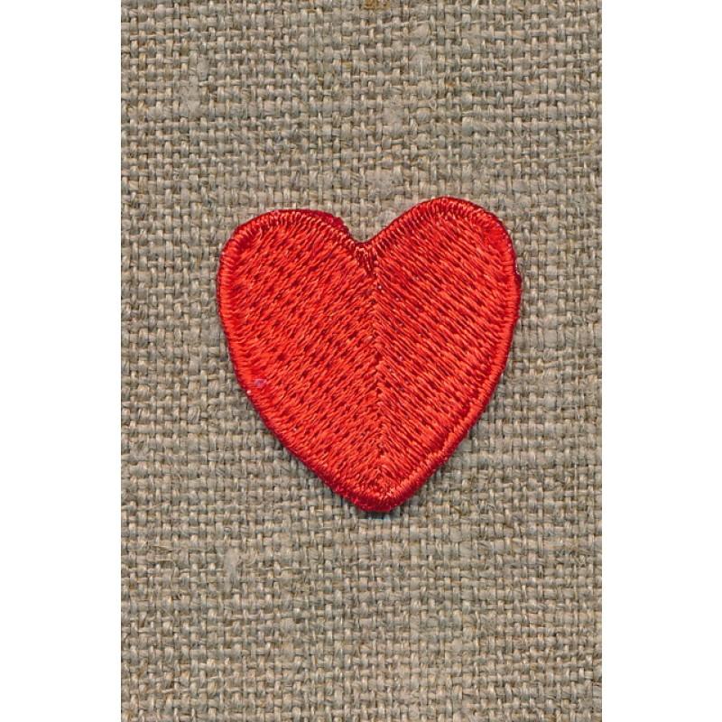 Motiv m/rødt hjerte, 25 mm-35