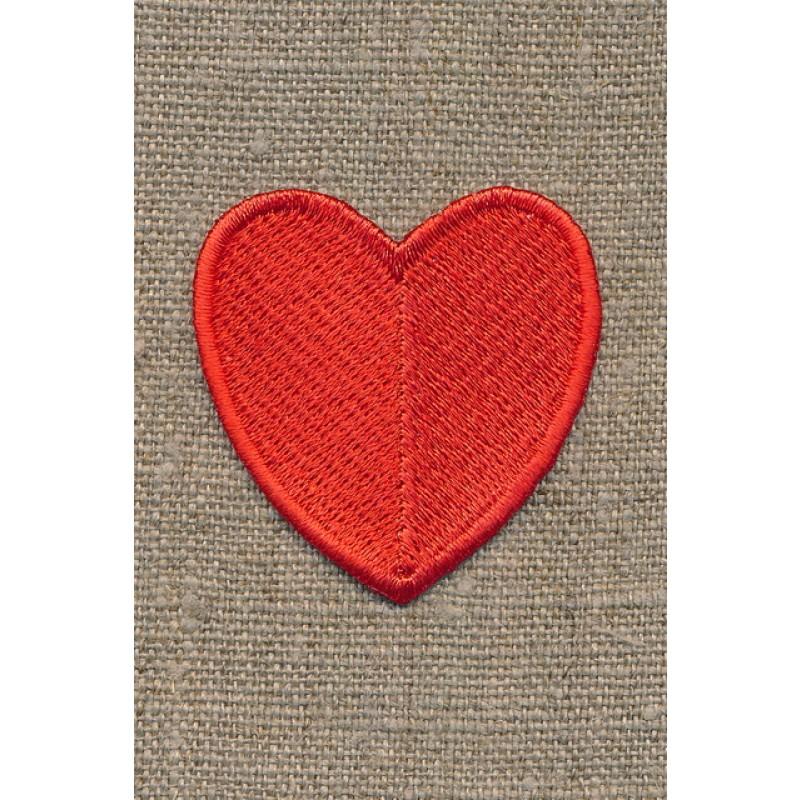 Motiv m/rødt hjerte, 45 mm-35
