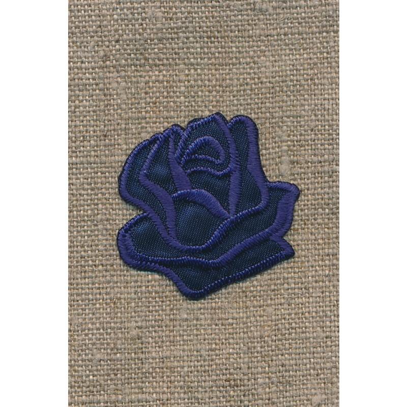 Motiv m/rose, mørkeblå-33