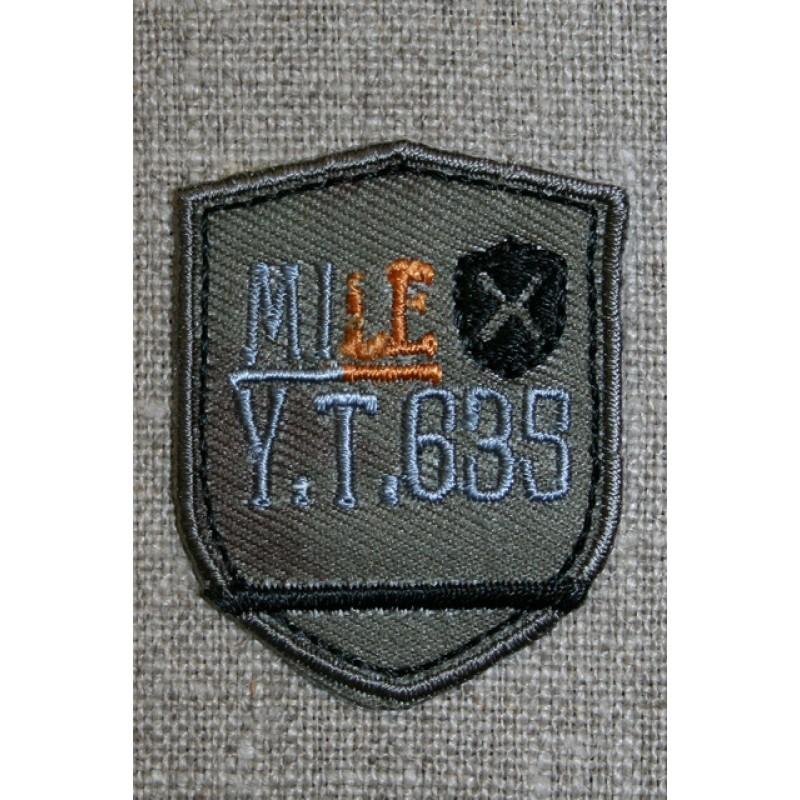Motiv m/våbenskjold, army/grå